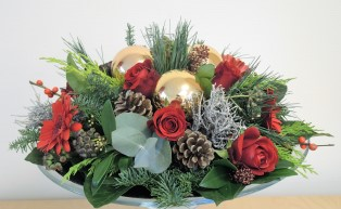 klassieke kerstschikking