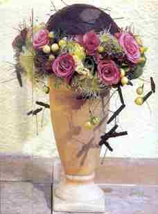 Bladbol-bloemenrand