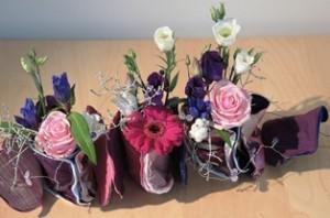 Bloemen en textiel