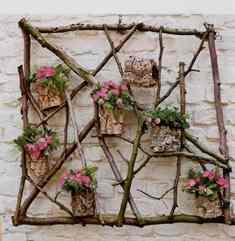 Wandschikking met bloemen